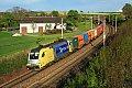 am Foto: SDL 182.525 mit Containerganzzug, Haiding (Passauerbahn)