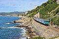 Foto zeigt: FS ALe 801/940 am Ligurischen Meer