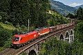 am Foto: 1116.031 (Ex Türkei-Länderlok) vor Schachbrett-1144.117 mit Güterzug am Tauern