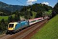 Foto zeigt: MÁV 470.002 mit Intercity 690 am Tauern unterwegs