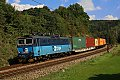 Foto zeigt: CD 363.028 mit Güterzug bei Bezprávi unterwegs