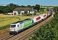 """Foto zeigt: DB 185.389 """"Co2-frei"""" auf der Passauerbahn"""