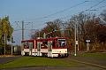 Foto zeigt: Eckige Straßenbahnsichtungen aus Erfurt