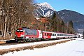am Foto: 1116.264 mit ÖBB-EuroCity (Ennstalbahn)