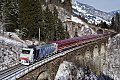 am Foto: Lokomotion 186.440 mit Schneeexpress (Bad Hofgastein)