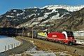 am Foto: Stahlrollenzug bei Dorfgastein (Tauernbahn)