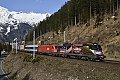 Foto zeigt: 1116.170 + 1216.003, vor RoLa, Mallnitz-Obervellach (Tauernbahn)