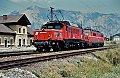 Foto zeigt: 1020.018 + 1110.027, Lokzug, Thörl-Maglern (Kronprinz Rudolfbahn), 04.08.1994
