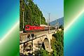 Foto zeigt: 1116-Tandem mit Kohlenstaubzug am Rothauer-Viadukt (Tauernbahn)
