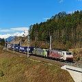 Foto zeigt: Lokomotion 189.901 + BLS Cargo 486.502 Pusarnitz (Tauernbahn)