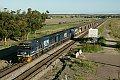 Foto zeigt: 9029 + 9028 + 9206 mit Kohleleerzug, DR 297, Whittingham (Australien), 21.12.2014