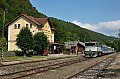 am Foto: CD 754.031 bei der Einfahrt in den Bahnhof Kacov (Tschechien)