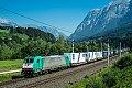 Foto zeigt: 186.247 mit KLV-Zug (Bischofshofen)
