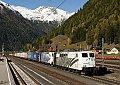 Foto zeigt: Lokomotion 151.074 und 185.663, TEC 41857, Mallnitz-Obervellach (Tauernbahn)