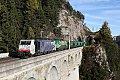 """Foto zeigt: Lokomotion 189.917 + MRCE 182.570 """"GySEV Cargo Breitenstein (Semmeringbahn)"""