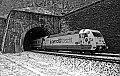 "Foto zeigt: ""50 Jahre: Jugend forscht"" - DB 101.050, EC 216, Annabergtunnel nahe St.Michael (KRB)"