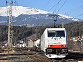 """Foto zeigt:Lokomotion 186.443 """"Albino"""", TEC 41855, Spittal-Millstättersee (Tauernachse)"""