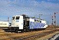Foto zeigt: Lokomotion 151.056 + Flügelsignale, München Ost Rangierbahnhof (MOR) (Deutschland), 05.01.2015