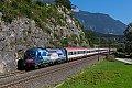 Foto zeigt: Achensee-Lok 1216.019 mit EuroCity bei Jenbach (Unterinntal)