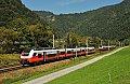 Foto zeigt: cityjet-Begegnung: 4746.504 vs. 4746.013 bei Pernegg Stausee (Südbahn)