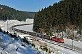 Foto zeigt: Baureihe 151 schiebt auf der Frankenwaldbahn