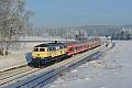 Foto zeigt: Westfrankenbahn 218.460 bei Großwendern in der Morgensonne