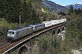 Foto zeigt: TX EKOL am Hundsdorfer-Viadukt mit 185 Tandem