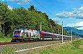 """Foto zeigt: Werbe-Railjet 1116.157 """"Polizei"""" Sbl. Spittal 1 (Tauernachse)"""