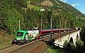 """Foto zeigt: Werbetaurus """"150 Jahre Brennerbahn"""" auf der Tauernbahn"""