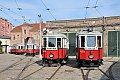 Foto zeigt: M 4023 + M 4082  + M 4033 & M 4137 , VEF, Verkehrsmuseum (Strassenbahn Wien)