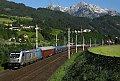 Foto zeigt:RailPool 187 mit Turnuszug in Werfen