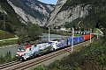 """Foto zeigt:193.773 """"150 Jahre Brennerbahn"""" mit EKOL im Salzachtal"""