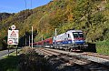 """Foto zeigt: 1116.250 """"112 - Polizei"""" mit railjet bei Bruck a/d Mur - Stausee"""