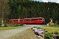 Foto zeigt: Fotofahrt durchs Rodachtal mit zwei roten Brummern