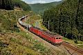 Foto zeigt: DB 155.010 + 189.069 - Leinemühle (Frankenwaldbahn)