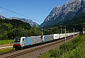 am Foto: Railpool Tandem (186.286 + 185.674) vor Ekol bei Pfarrwerfen