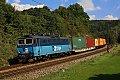 am Foto: CD 363.028 mit Güterzug bei Bezprávi unterwegs