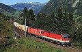 am Foto: 1144 vor 1116 mit Güterzug im Gasteinertal
