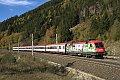 Foto zeigt: Neue MAV Werbelok 470.005 fährt auf der Tauernbahn auf und ab