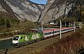 Foto zeigt:Green Points 1016.023 mit InterCity bei Sulzau
