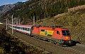 am Foto: 1116.060 mit EuroCity (Tauernbahn)