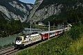 Foto zeigt: MAV 470.010 schiebt Regional-Express, bei Sulzau