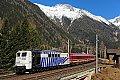 Foto zeigt: Lokomotion 151.056, D 13189, Mallnitz-Hintertal (Tauernbahn), 14.03.2015