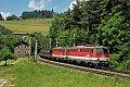 Foto zeigt: 1142.554 + 1142.639, Militärzug, Klamm-Schottwien (Südbahn)