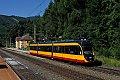 Foto zeigt: Albtalbahn VG Twg 450 auf der Semmeringbahn