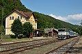Foto zeigt: CD 754.031 bei der Einfahrt in den Bahnhof Kacov (Tschechien)