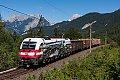 am Foto: Dampflok 1216 mit Kurzgüterzug im Karwendel