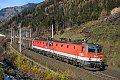 Foto zeigt: 44er Doppler vor einem kurzen Güterzug. (Kolbnitz)