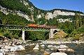Foto zeigt: 2095.13, Fotozug, Sporenegg-Brücke (Bregenzerwaldbahn)