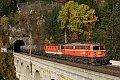 am Foto: 1142.623 + 1144.205, G 54052, Breitenstein - Krauselklause - Polleroswand-Tunnel (Semmeringbahn), 31.10.2015